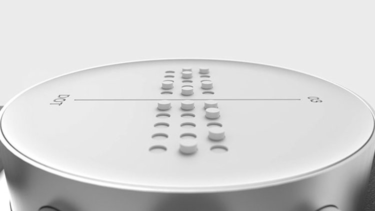 braille watch face view