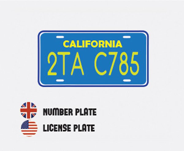 differences-us-british-english-number plate license plates