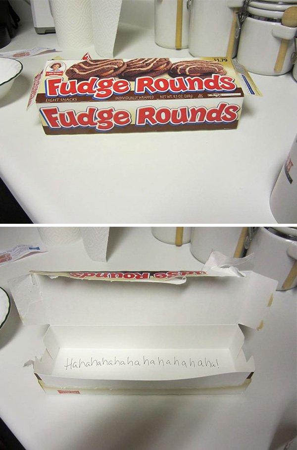 funny-couples empty fudge rounds