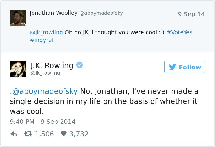 funny-jk-rowling-twitter-comebacks based on coool