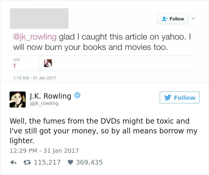 funny-jk-rowling-twitter-comebacks borrow my lighter