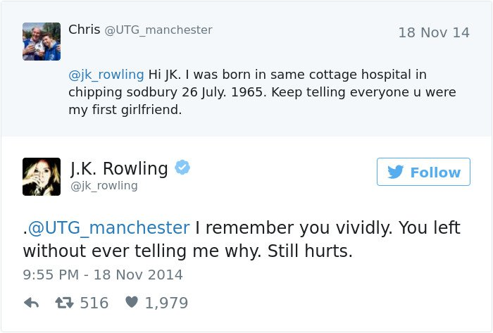 funny-jk-rowling-twitter-comebacks first girlfriend