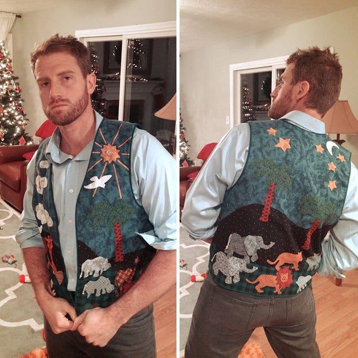gift from grandma homemade vest