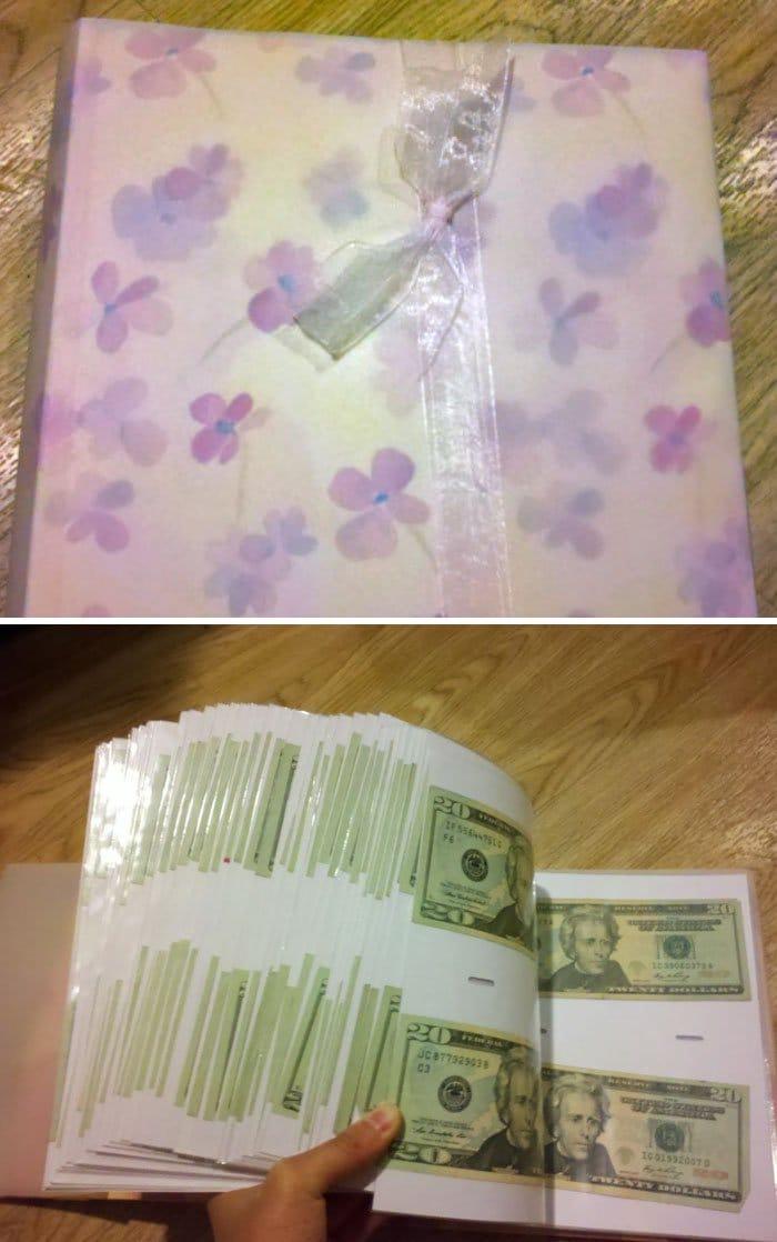 gift from grandma money photo album