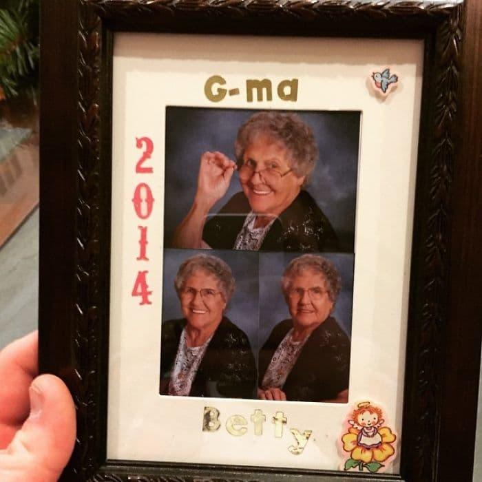 gift from grandma photo frame