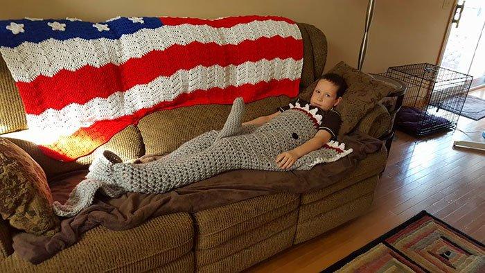 gift from grandma shark blanket