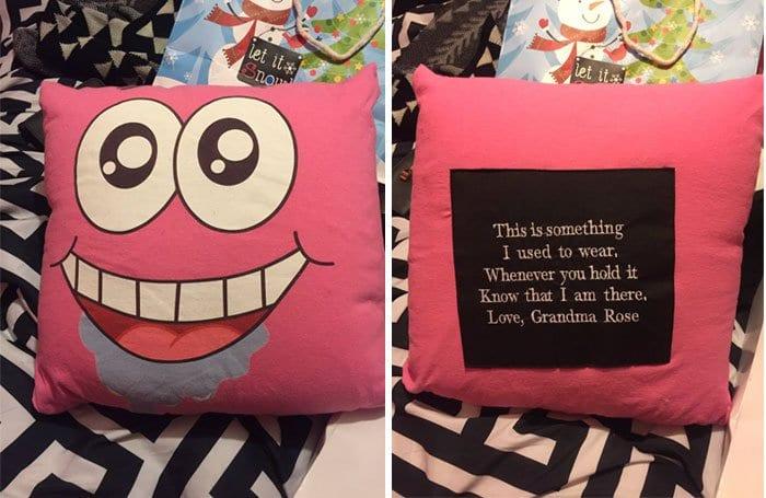 gift from grandma shirt pillow