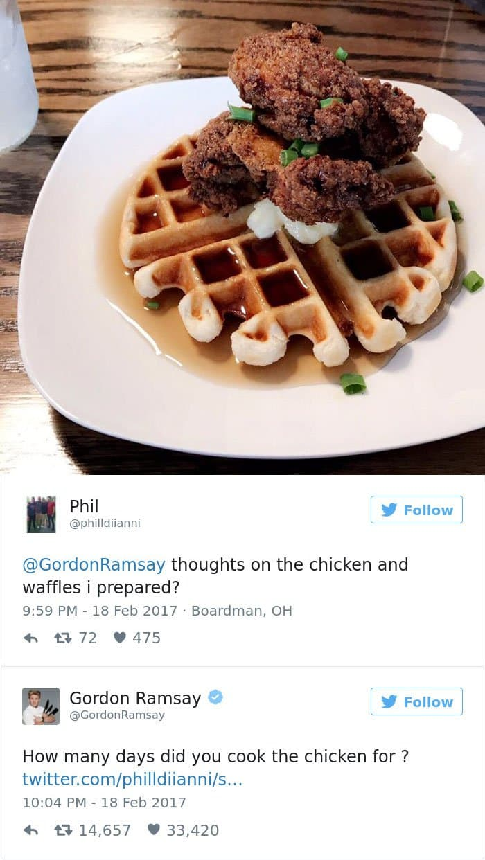 chicken on waffles