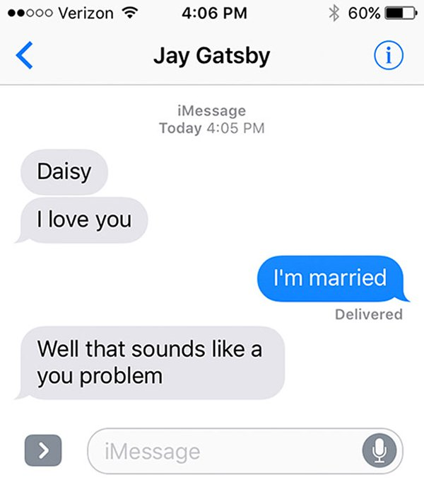 literature-romantics-could text the great gatsby f scott fitzgerald