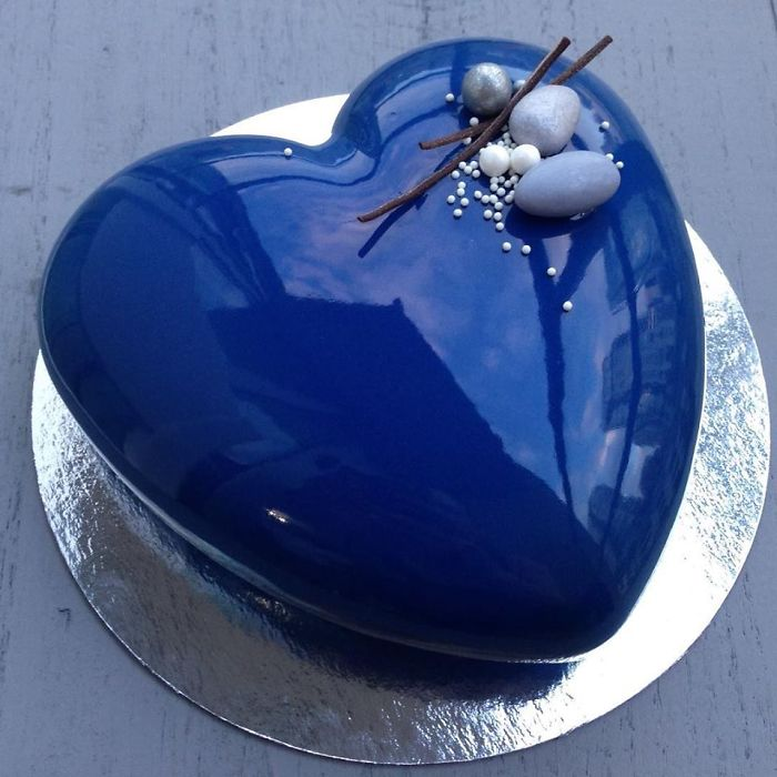 mirror marble mousses blue heart