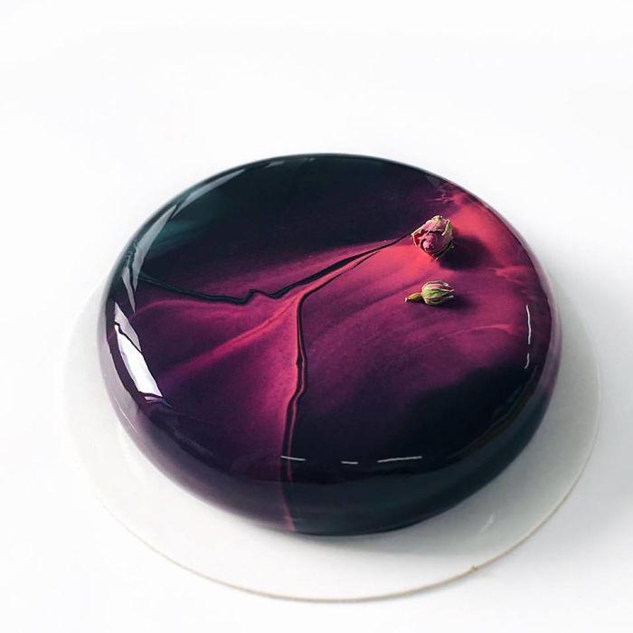 mirror marble mousses purple black