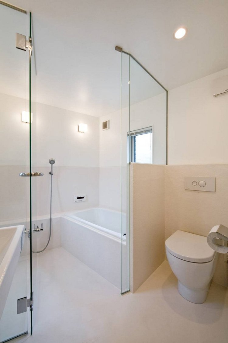 narrow house japan bathroom