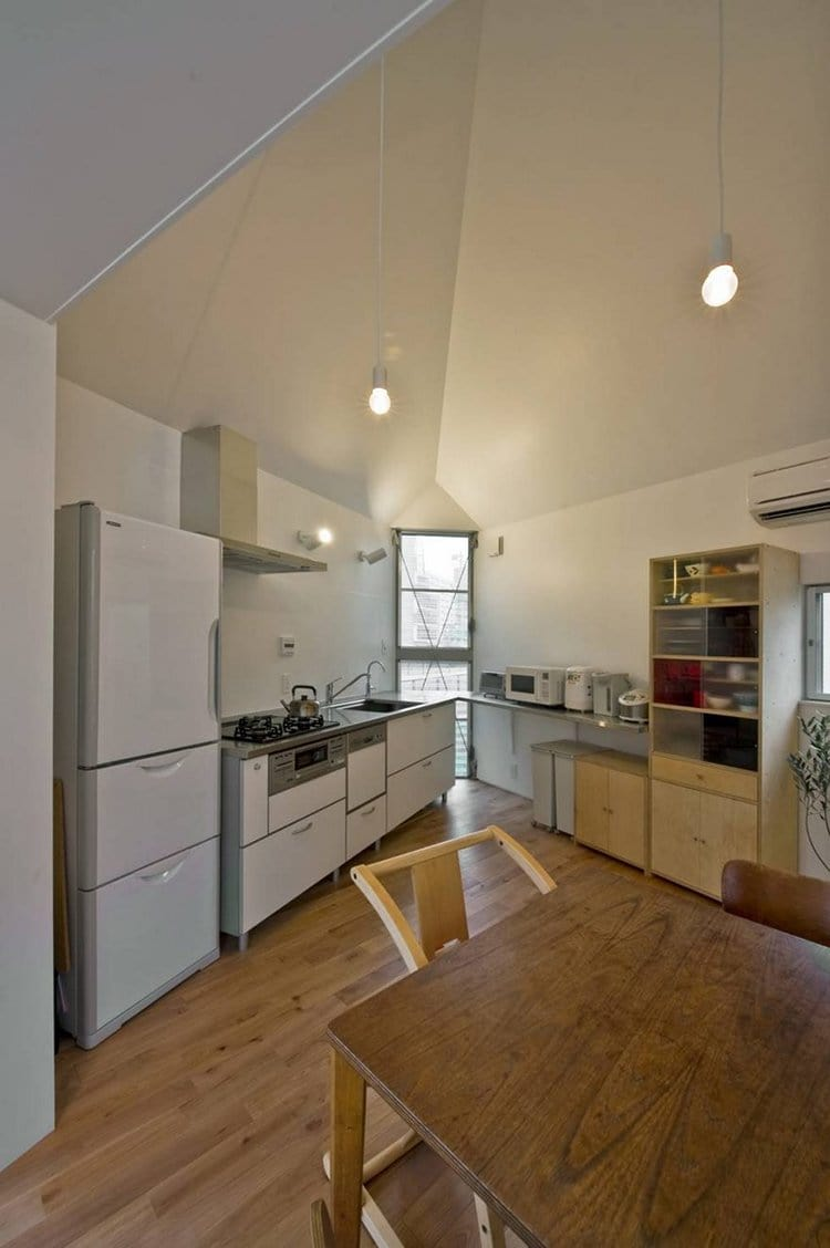 narrow house japan kitchen space