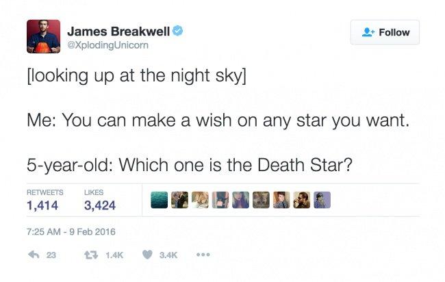 parenting tweets death star