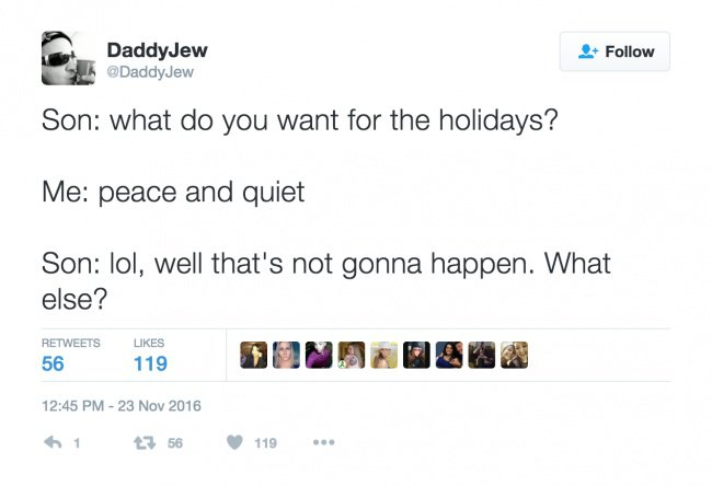 parenting tweets peace and quiet