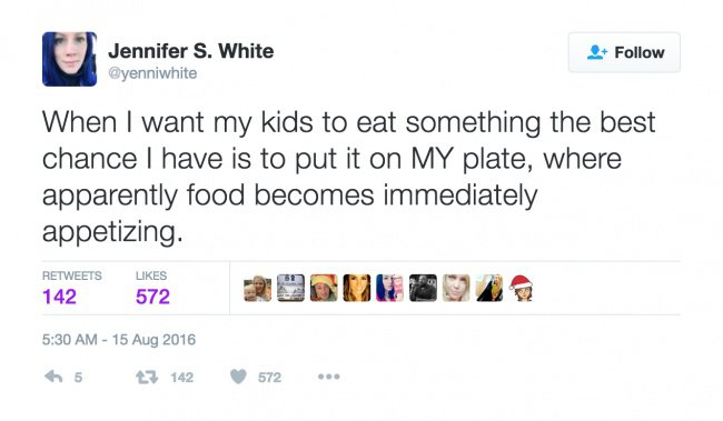 parenting tweets put it on my plate