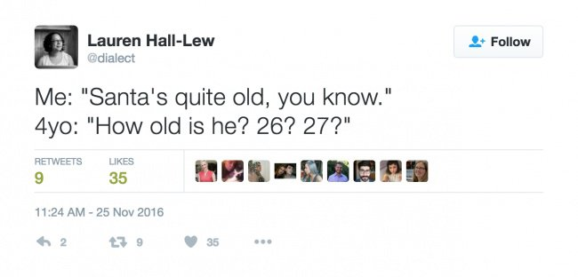 parenting tweets santa is old
