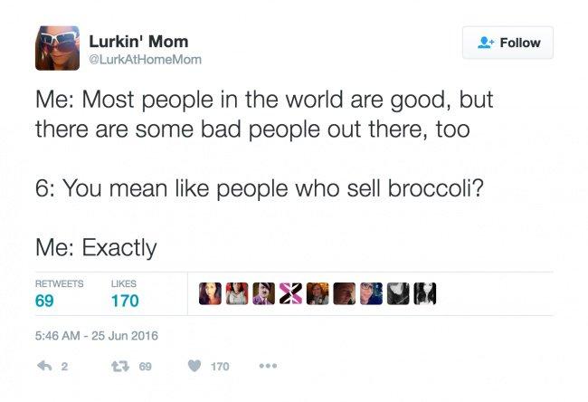 parenting tweets sell brocoli