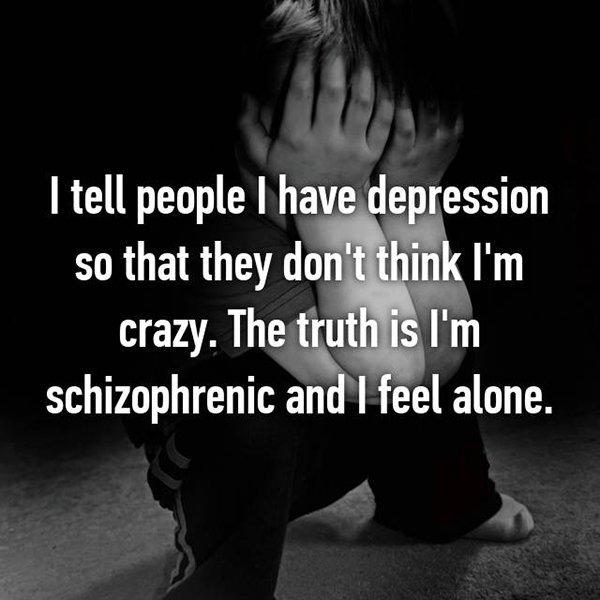 real life description schizophrenia depression