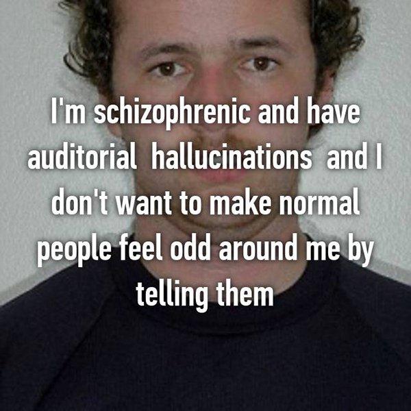 real life description schizophrenia hallucinations