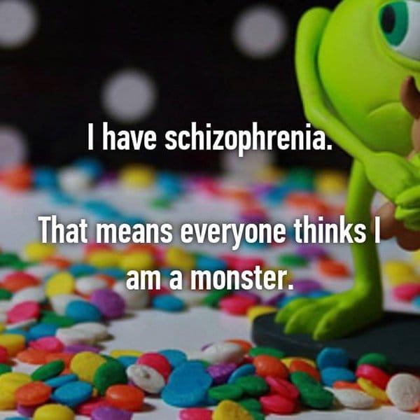 real life description schizophrenia monster
