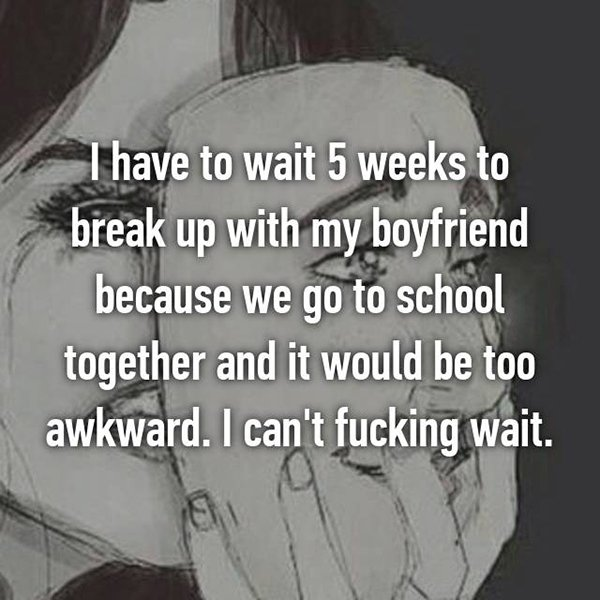 reasons waiting to break up go to school together