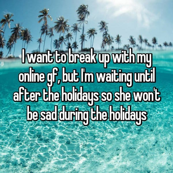 reasons waiting to break up sad during holidays