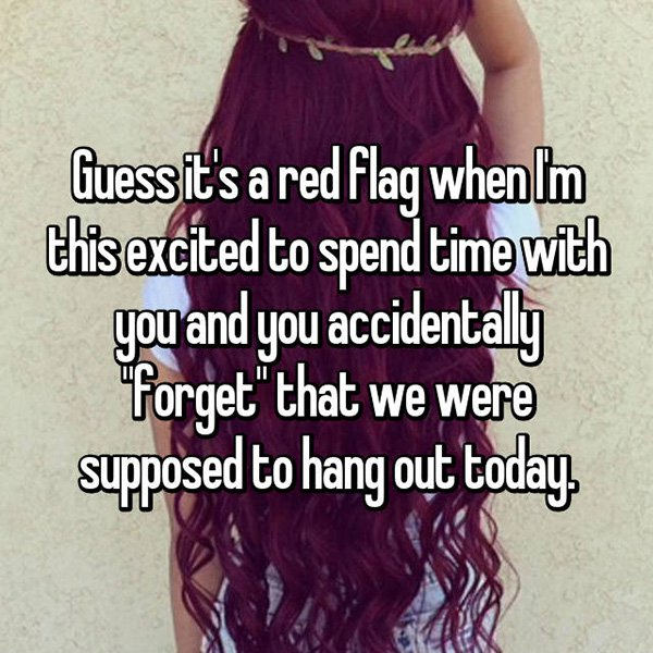 relationship red flags forget to hang out