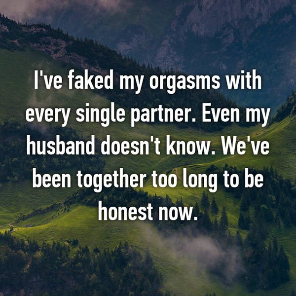 secrets in marriage faked orgasms