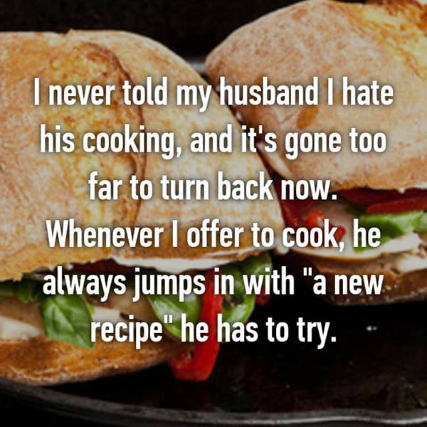 secrets in marriage hate his coooking