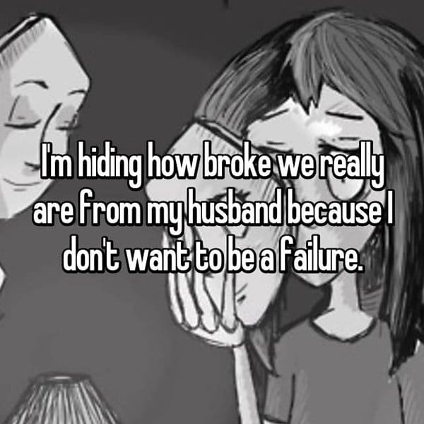 secrets in marriage hiding how broke we are