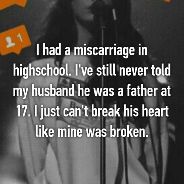 secrets in marriage miscarriage