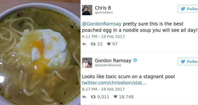 Hilarious Twitter Replies From Gordon Ramsay Slaying