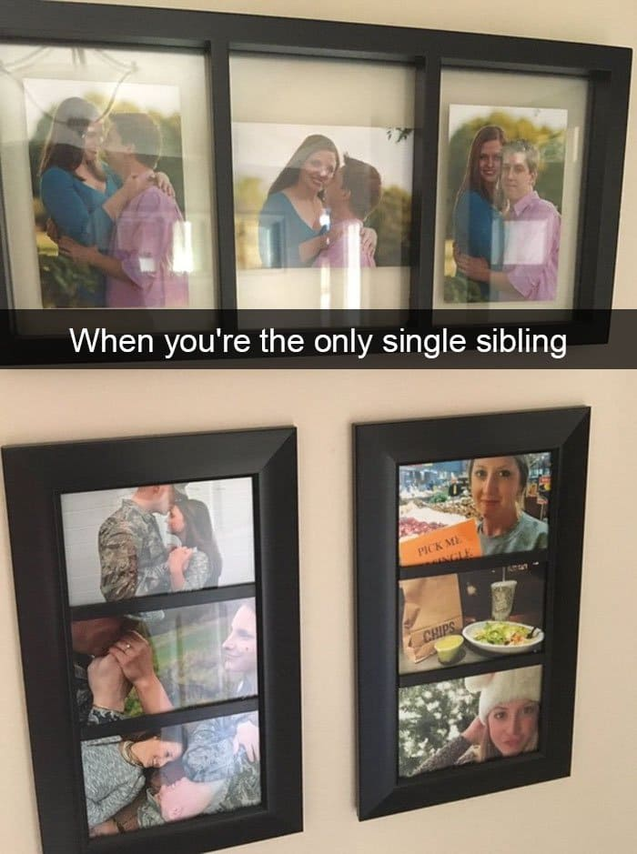 when youre the only single sibling