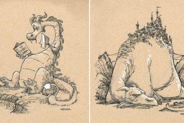 Brian Kesinger Dragon Drawings