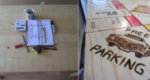 DIY monopoly board kitchen table