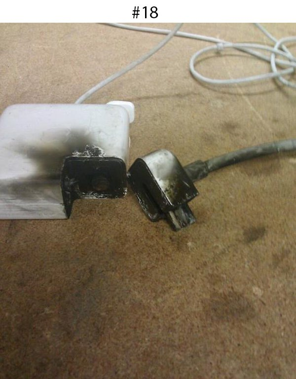 apple charger burnt