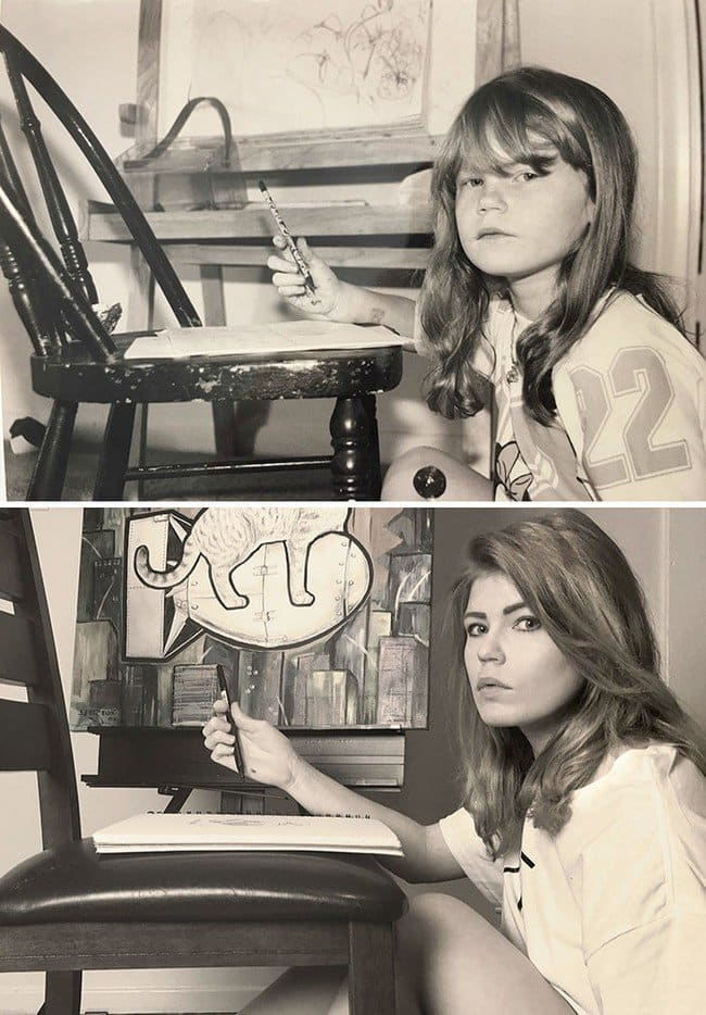 artist girl kid adult