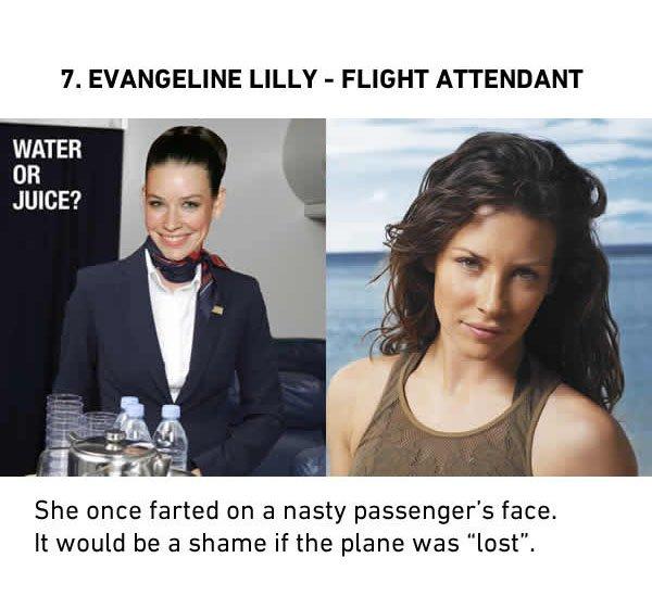avangeline lilly flight attendant