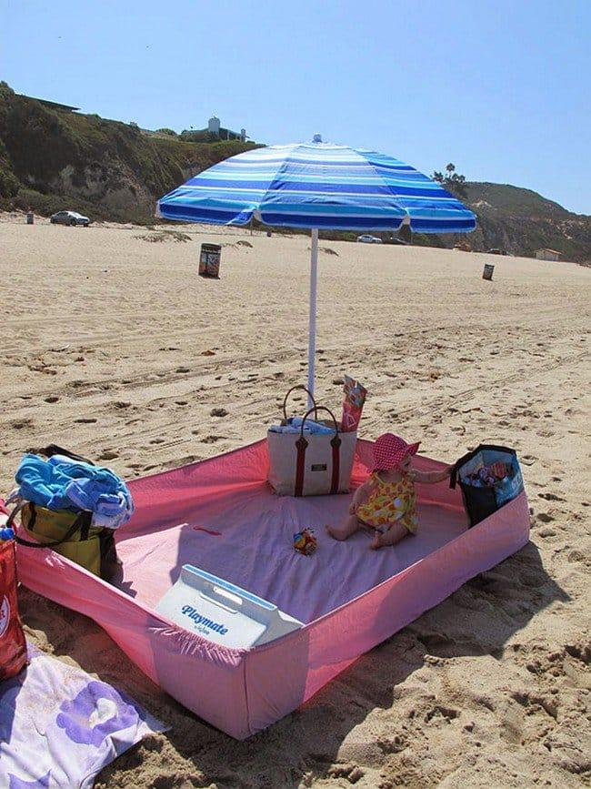 baby sheet beach