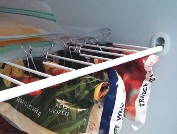 binder clips in fridge