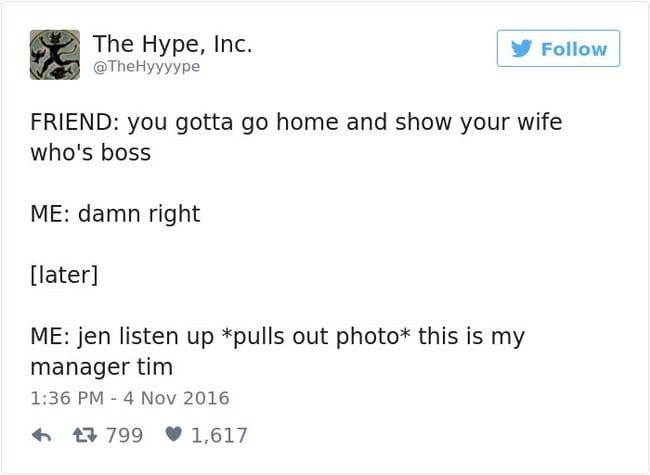 boss tweet