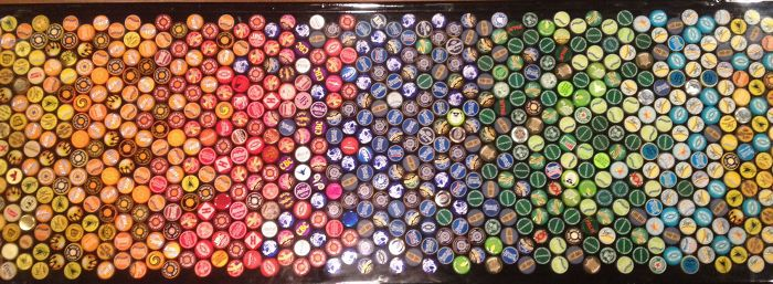 bottle cap counter top color scheme close uo