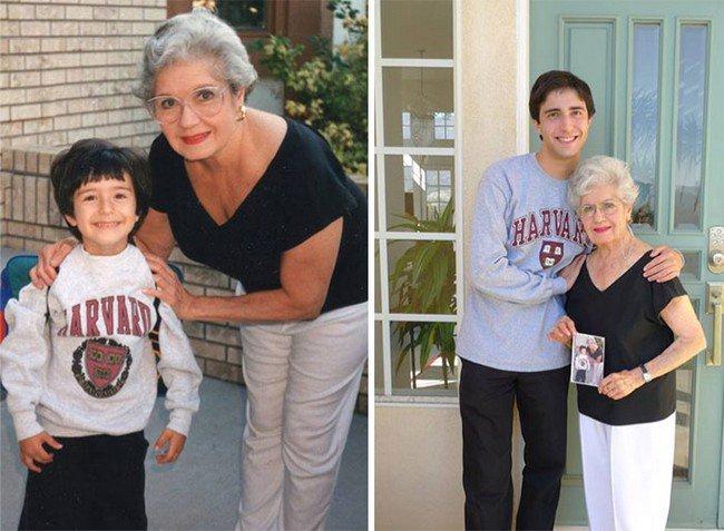 boy grandmother photos