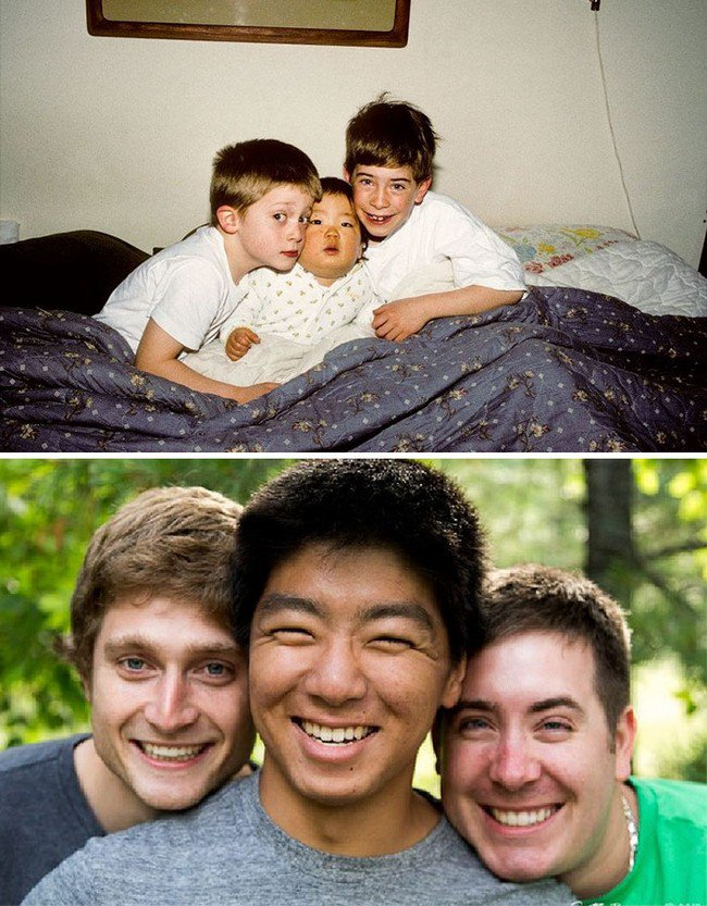 brothers then now