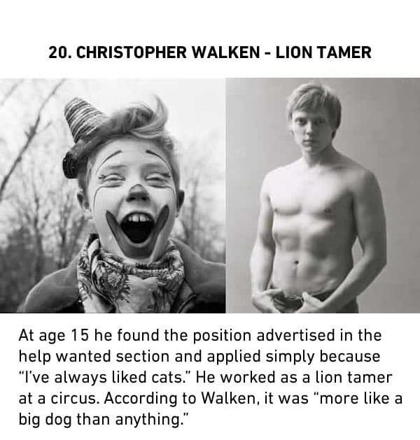 christopher walken lion tamer