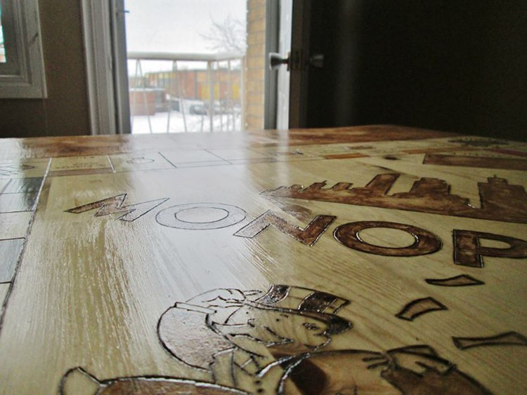 close up monopoly table