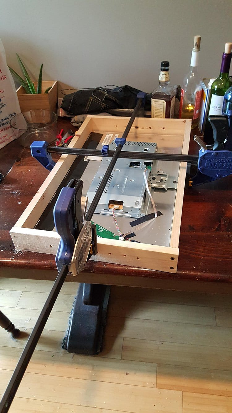 computer monitor mirror building the case