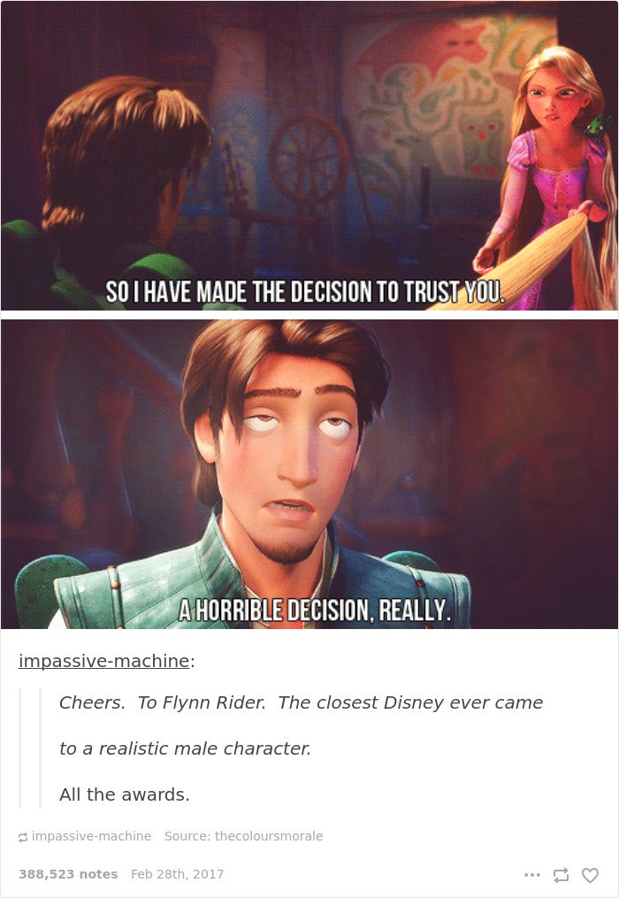 "<a href=""http://impassive-machine.tumblr.com/post/51456373535/cheers-to-flynn-rider-the-closest-disney-ever"" target=""_blank""><span style=""font-size: 8px; color: #ffffff;""><em>Tumblr</em></span></a>"