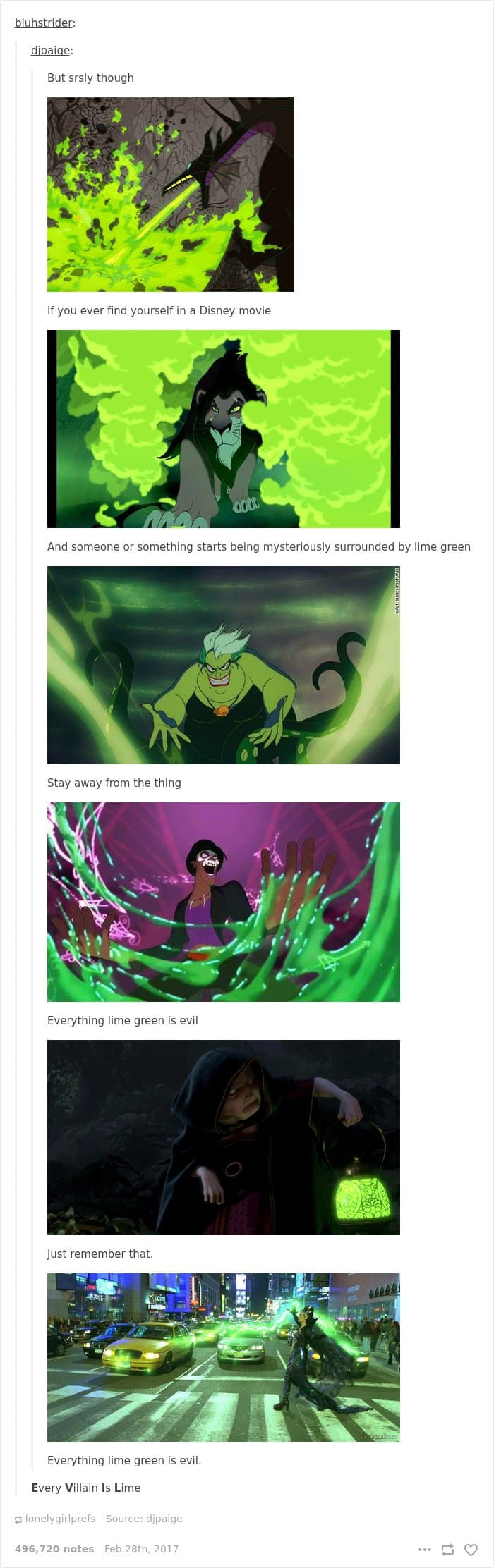 disney-tumblr-posts green means evil